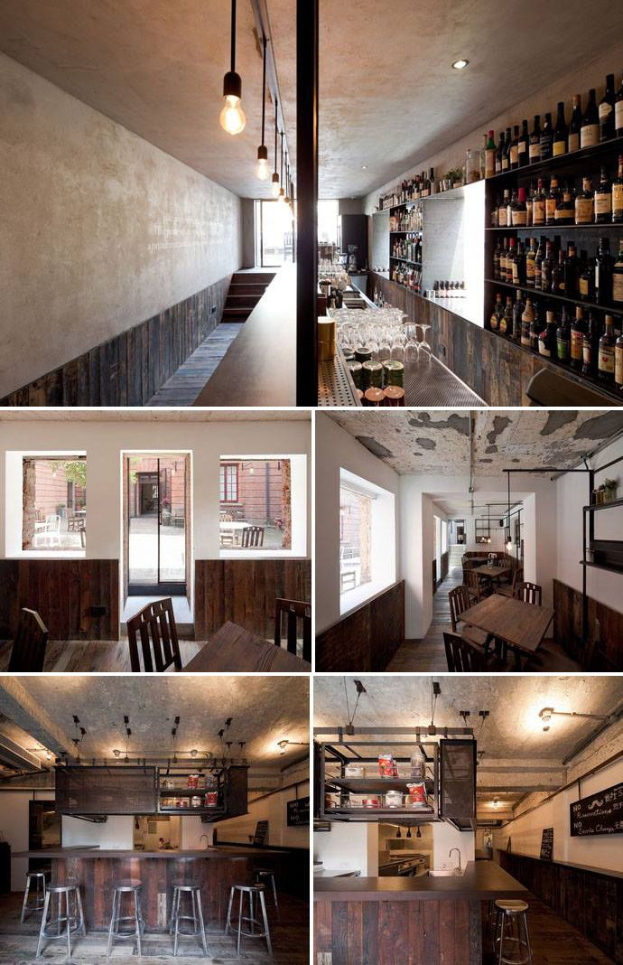 i love the use of wood and white interior paint rustic yet fresh and calming cafe design inspirations pinterest white interiors designs and rustic - Painted Wood Cafe Decoration
