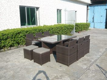 *MG*Beauty Cube 11pcs outdoor Rattan Dining Set