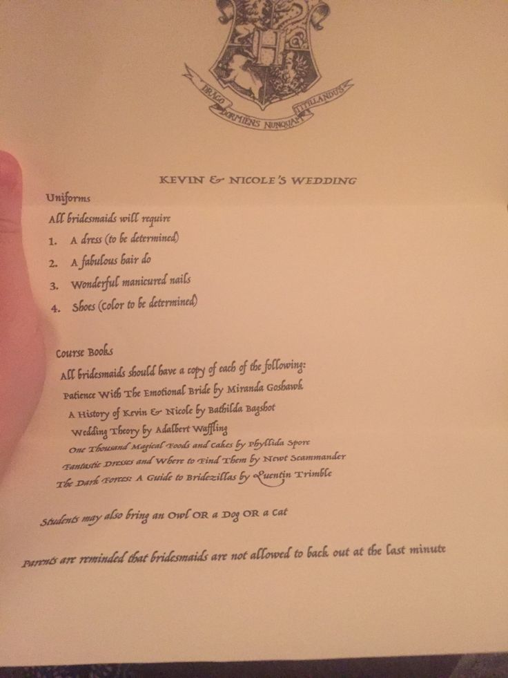 Harry Potter Bridesmaid proposal
