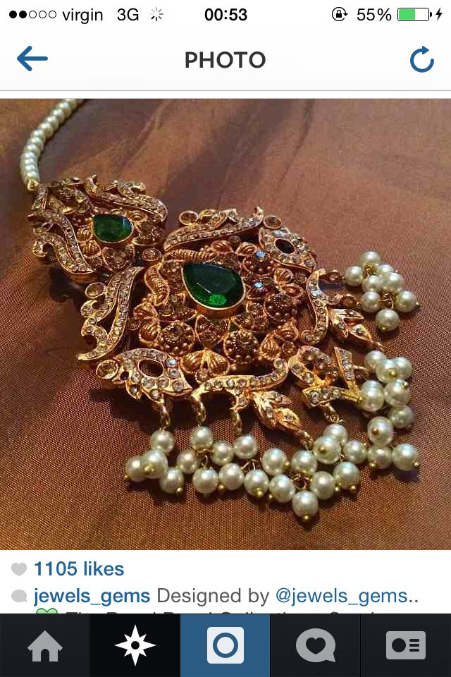 Love this mughal style tikka by jewels n gems