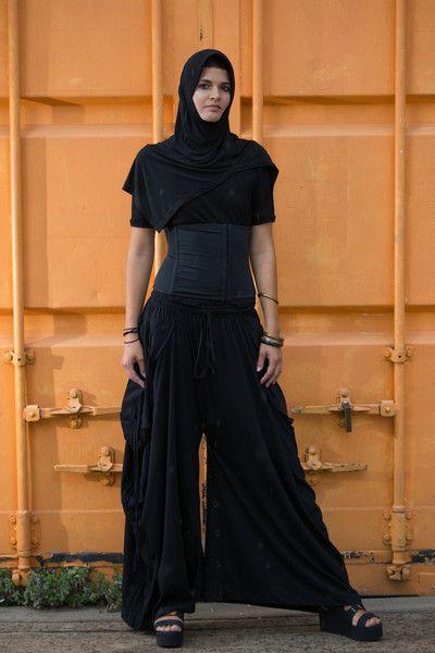 Spodnie Samurai czarne - SansaraShop - Szarawary