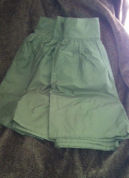 Sferra Celeste Moss Queen Bedskirt Gathered Panels Egyptian Cotton Italy #SFERRA #Transitional