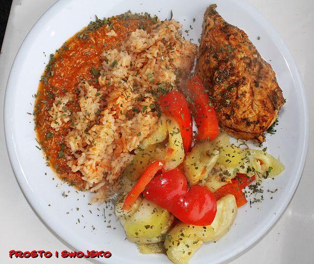 Kurczak na parze z ryżem i warzywami Thermomix