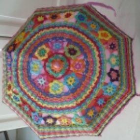 Paraplu omhaken