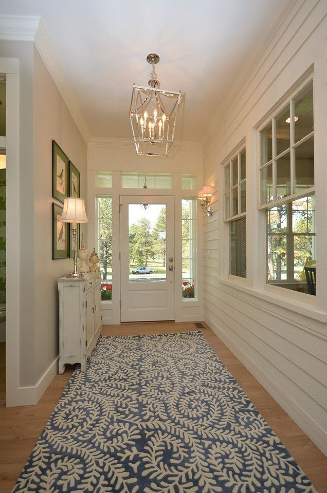 Farmhouse Chic Foyer : Modern meets traditional in this award winning farmhouse