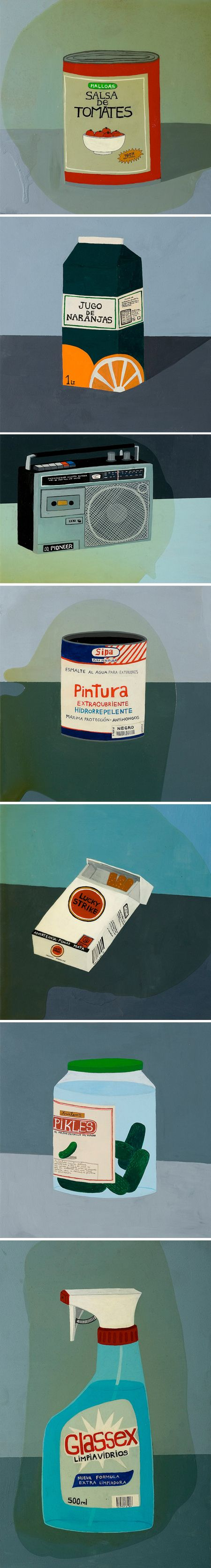 el grio's paintings of mundane objects via the jealous curator. See his work here: http://www.flickr.com/photos/griosis/