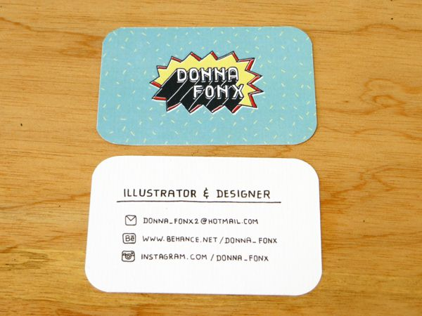 Name Card Design by Donna Fonx, via Behance