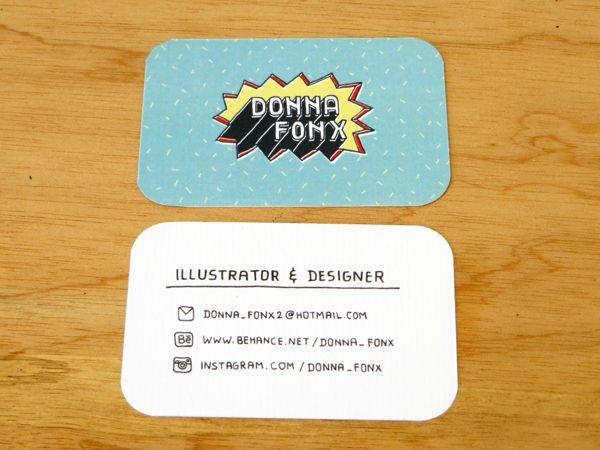 Name Card Design by Donna Fonx, via Behance