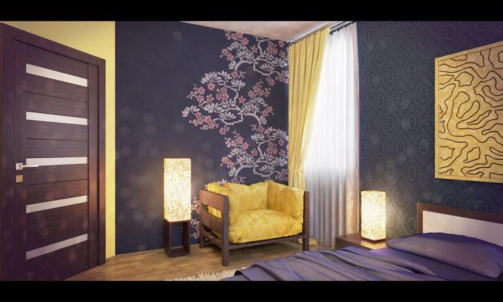 Спальня в этническом стиле