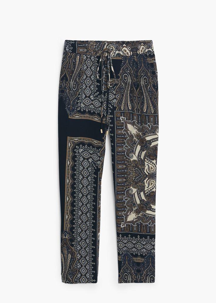 Bedruckte baggy-hose - Hosen für Damen | MANGO 59,99 EUR