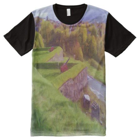 Kristiansten Fortress view  oil paint effect All-Over-Print T-Shirt - click to get yours right now!