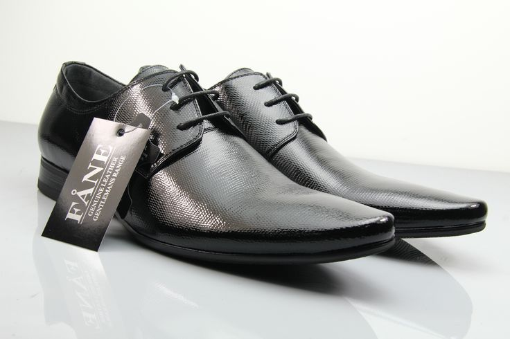 FÅNE - Executive Patent Black Leather Shoes