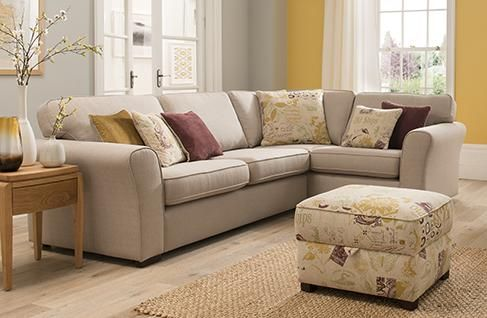 Lincoln Corner Unit LHF with high back cushion and scatter cushions included.
