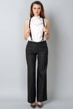 Женские классические брюки на подтяжках