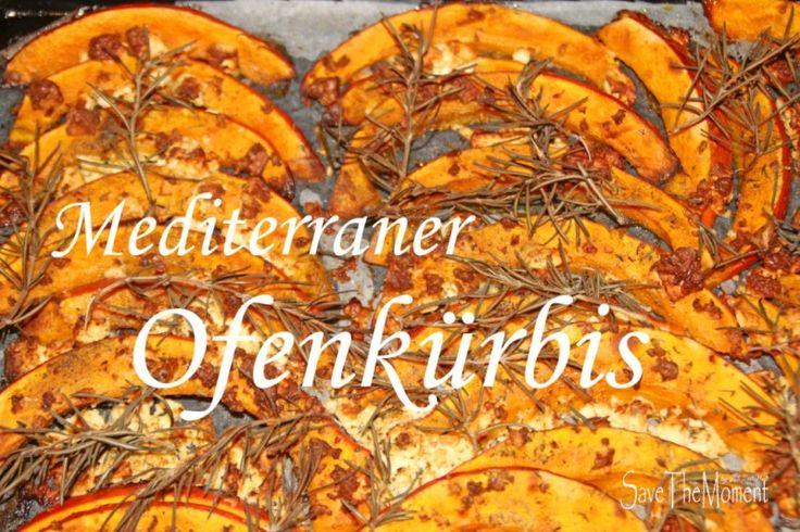 mediterraner Ofenkürbis mit Feta und Rosmarin