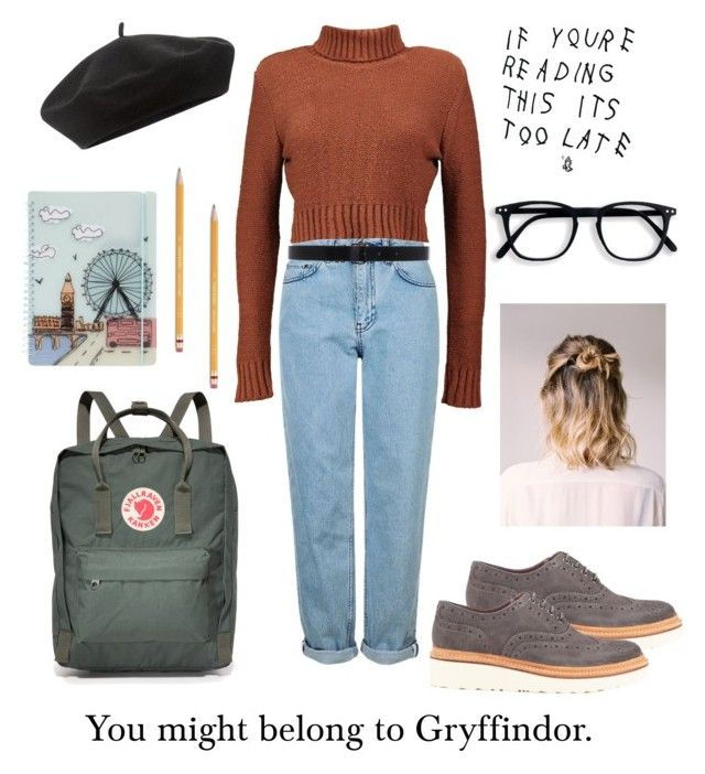 """Untitled #21"" by siggan22 on Polyvore featuring Paper Mate, Topshop, Fjällräven, Boohoo, Grenson, Ann Demeulemeester, Accessorize and FiloFax"