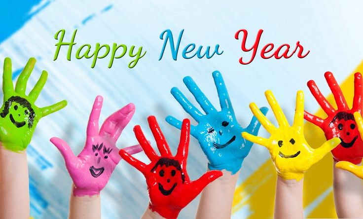 Colorful kids Happy New Year 2016 images wishes quotes hd