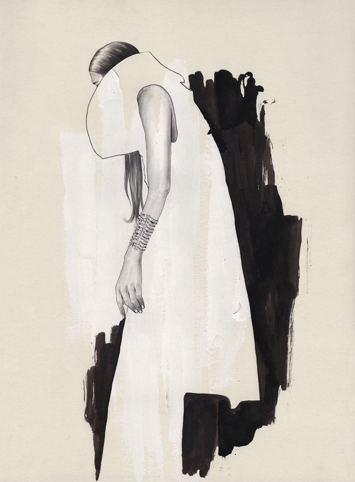 Contemporary fashion illustration // Esra Roise