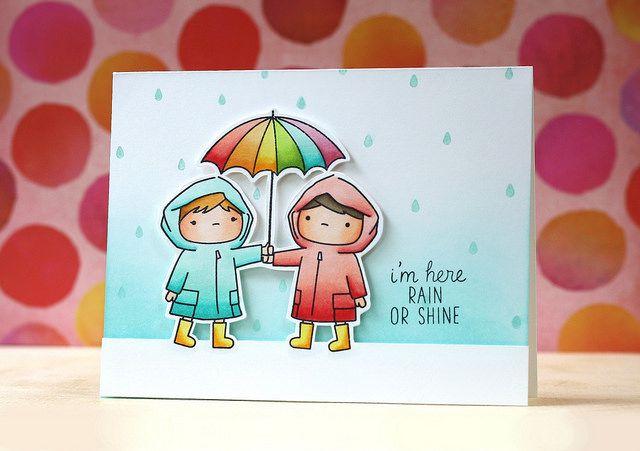 Love the raindrop background