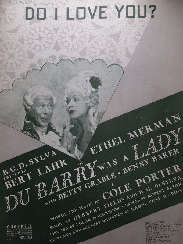1939 Do I Love You Cole Porter Du Barry Was A Lady Song Book Sheet Music by CindysCozyClutter on Etsy