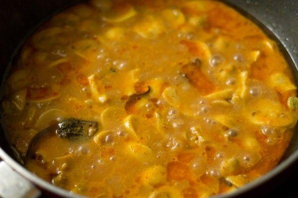 making mushroom masala recipe