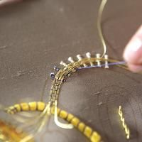 Discover goldwork embroidery techniques on