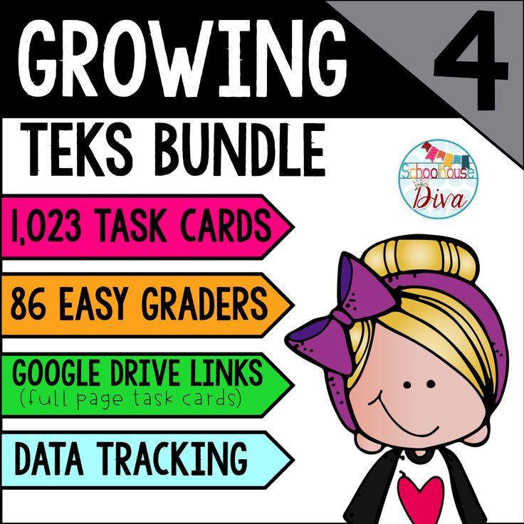 8 best 4th grade math teks images on pinterest math task cards 4th grade math teks bundle fandeluxe Choice Image