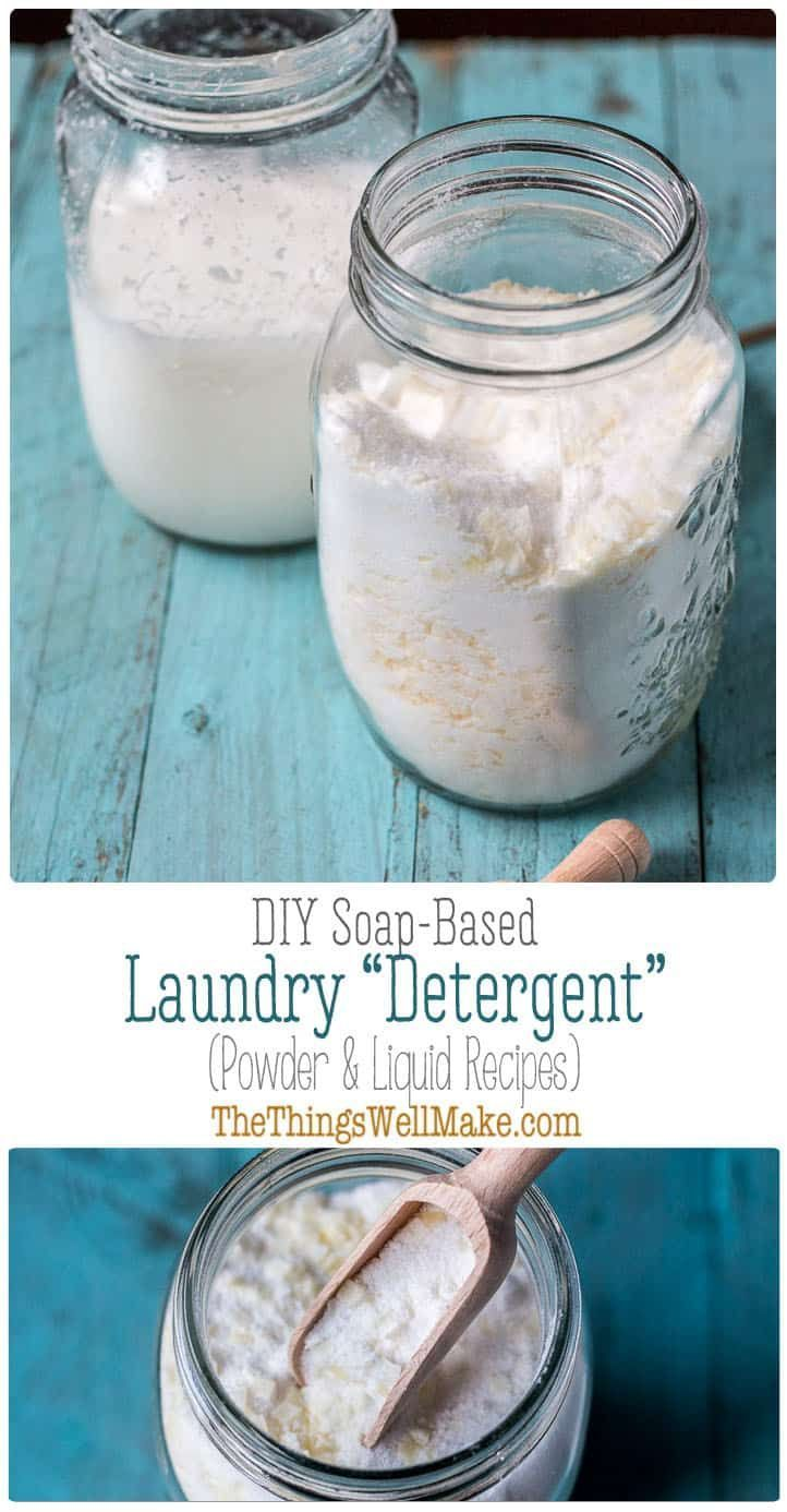 How To Make Homemade Laundry Detergent Powder And Liquid