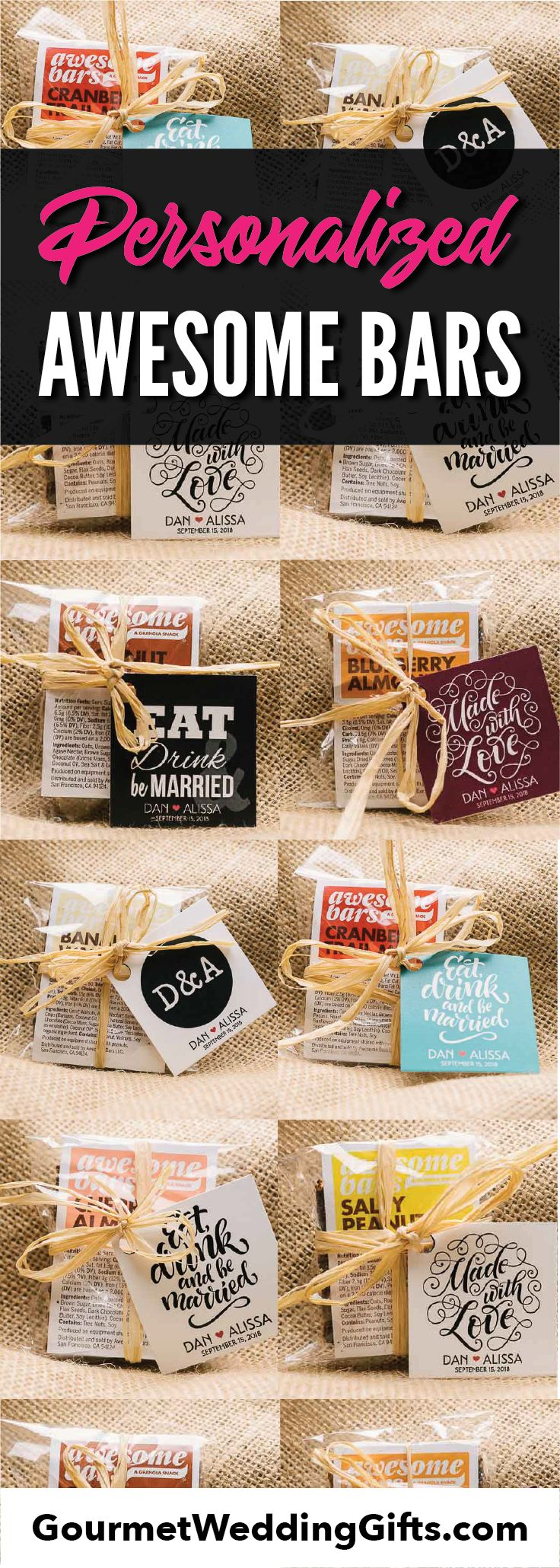 unique edible wedding favors | wedding ideas | personalized inexpensive cheap wedding gifts for guests | bridal shower gifts | wedding gift bags | custom gifts