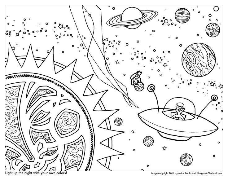 Planet Coloring Page Free Pages Of Outer Planets