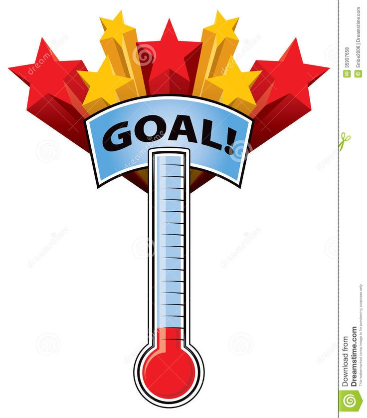Best Goal Thermometer Images On   Fundraising Ideas