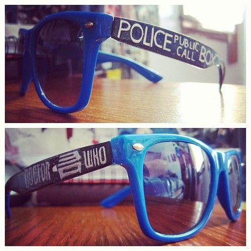 The TARDIS Glasses.  TARDIS glasses are cool.