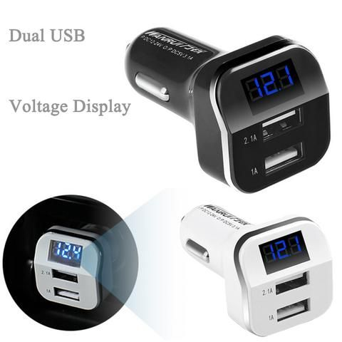 Universal Dual USB Car Charger 3.1A Voltmeter Adapter Charger