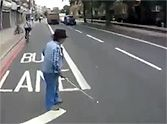 Guardian Angel Cyclist Saves Blind Man From Walking Into Traffic. Amazing Save.