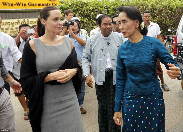 Angelina Jolie visits Burmese factory women living in dire conditions