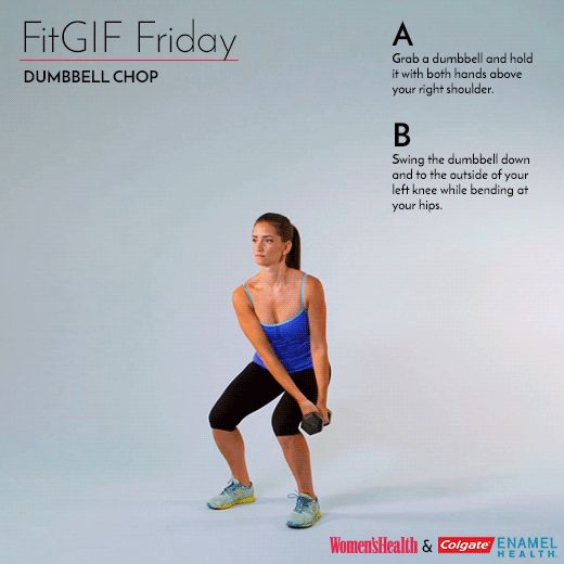 The Standing Abs Move That Will Light Your Core on Fire  http://www.womenshealthmag.com/fitness/fitgif-friday-dumbbell-chop?utm_source=WMH04