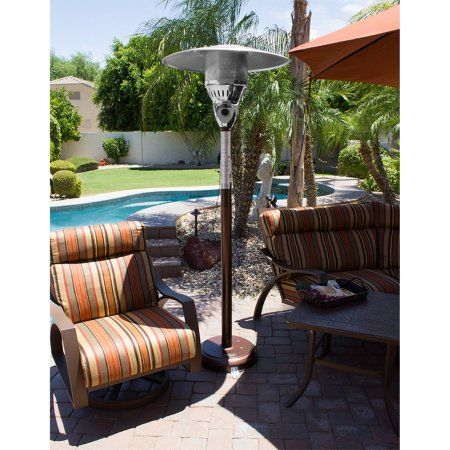 Hiland Hammered Bronze Natural Gas Patio Heater