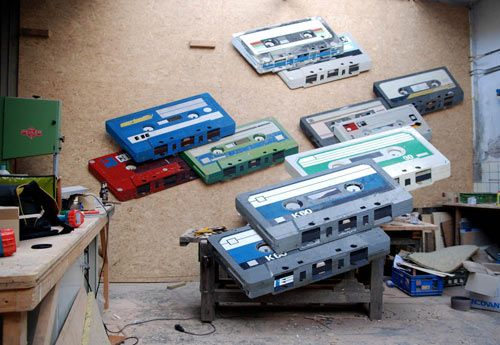 3D Paintings on Reclaimed Wood. Ron Van Der Ende.: Modern Art, Originals Colors, Vans Of, Salvaged Wood, Cassette Tape, The Netherlands, Ron Vans, Escultura Fotorealístico, Por Ron