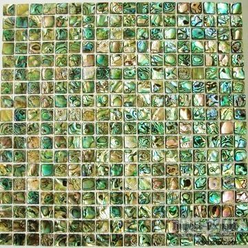 shell mosaic,seashell mosaic,shell tiles,New Zealand Abalone.