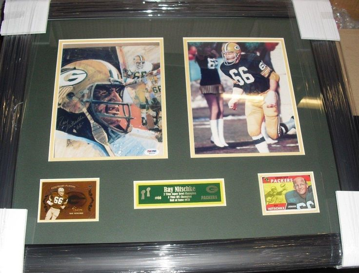 #SportsMemorabilia.com - #SportsMemorabilia.com Ray Nitschke Packers Autograph Signed Incribed #66 22x26 Photo Collage PSA/DNA - AdoreWe.com