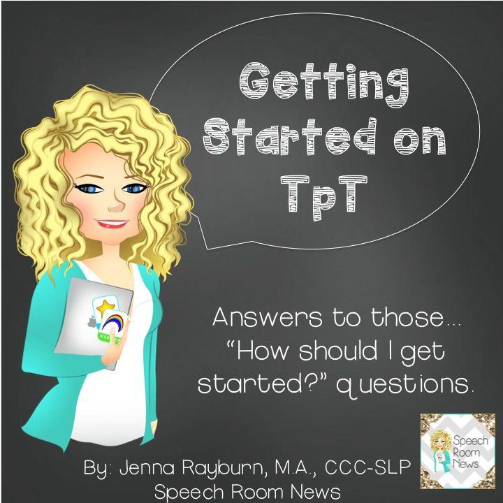 How to start selling on TpT. Tips for SLPs.