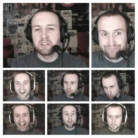 The many faces of Adam Montoya.