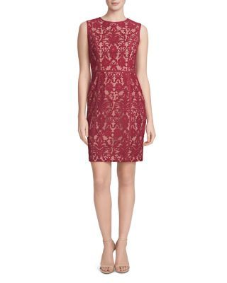 Cynthia Steffe Elenora Mesh Sheath Dress | Bloomingdale's