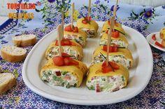 El jardín de mis recetas: TORTILLAS RELLENAS DE LECHUGA Y ATÚN