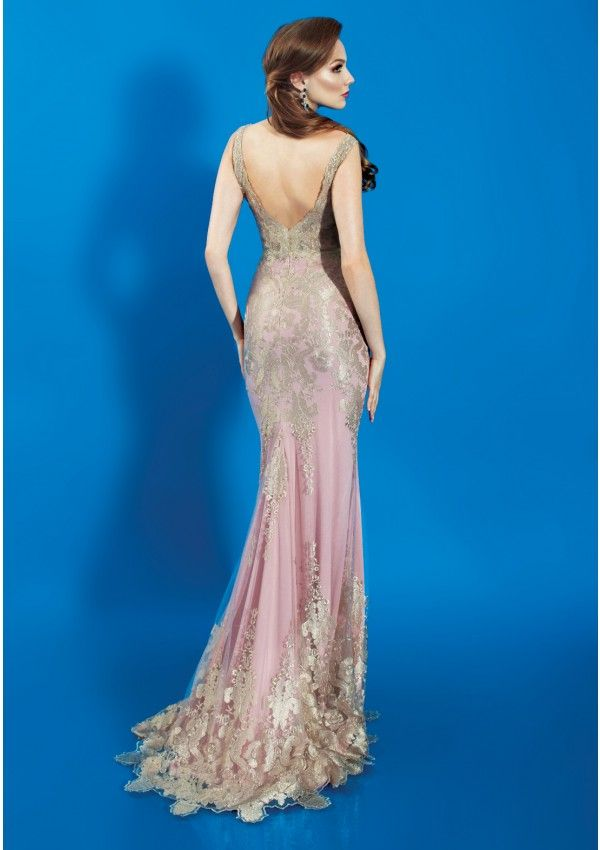 Love Struck, long, precious lace evening dress by BEIN SAVVY