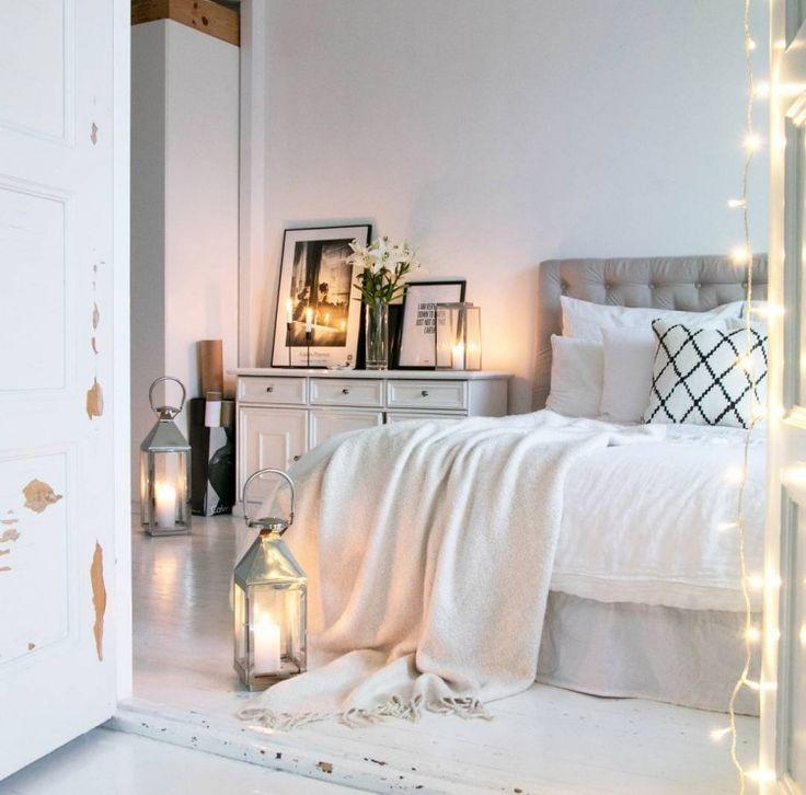 Podłoga z białych desek i romantyczne dekoracje w sypialni - Lovingit.pl