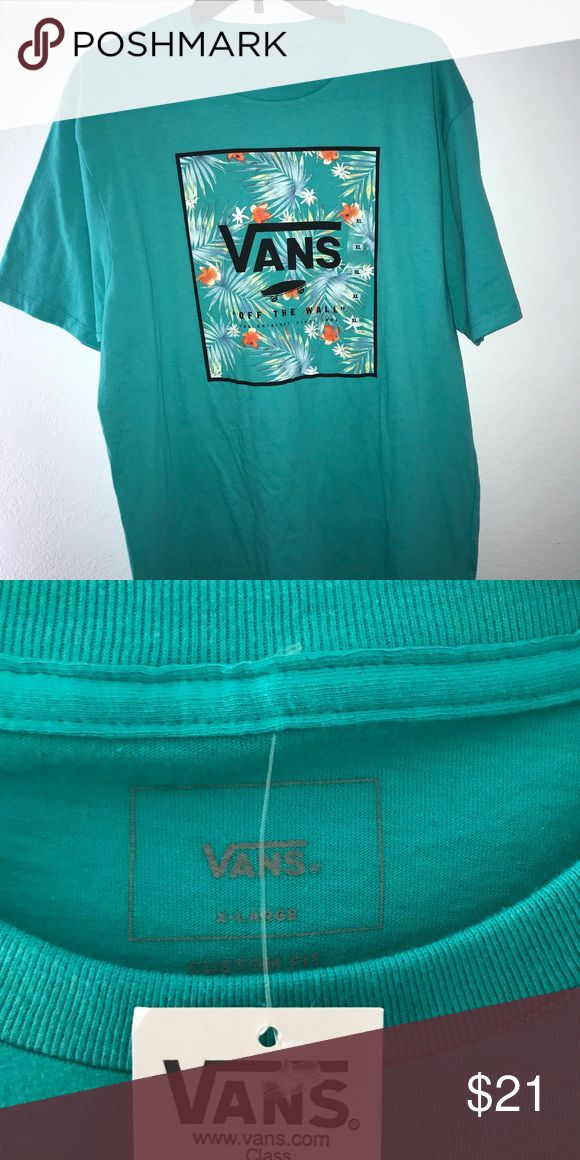 vans graphic tee teal vans graphic tee! BRAND NEW NEVER WORN! Vans Shirts Tees - Short Sleeve