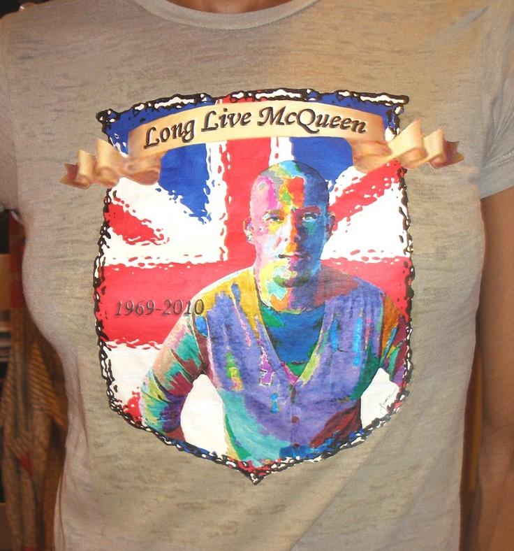 Alexander McQueen Commemorative T-Shirt. $65.00, via Etsy.