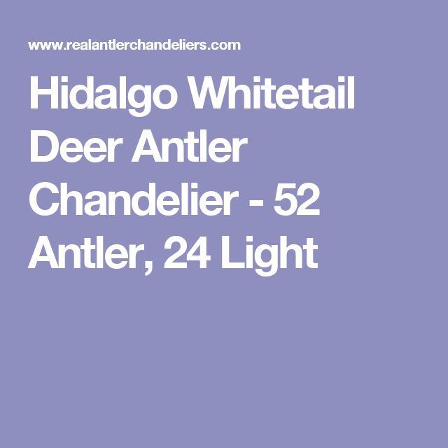 Hidalgo Whitetail Deer Antler Chandelier - 52 Antler, 24 Light