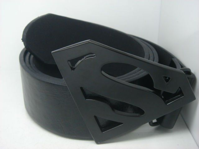 2012 Men's New Design Superman Belt Buckle With Belt Great Gift G06B Free Shipping